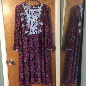 Eloquii boho babydoll dress NWT